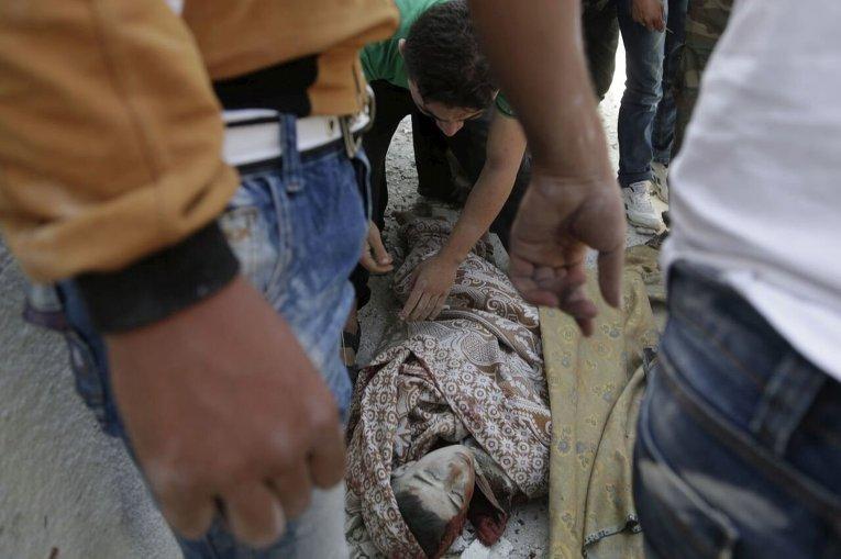 Погибший в результате авиударов в Сирии.