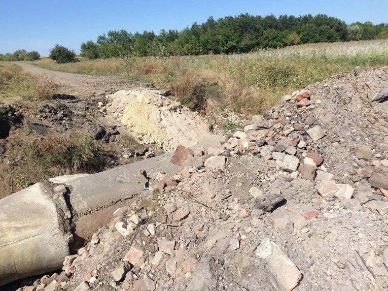 Восстановление насыпного моста в Красногоровке