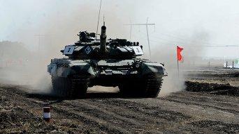Открытие соревнований танковых подразделений ополчения ДНР
