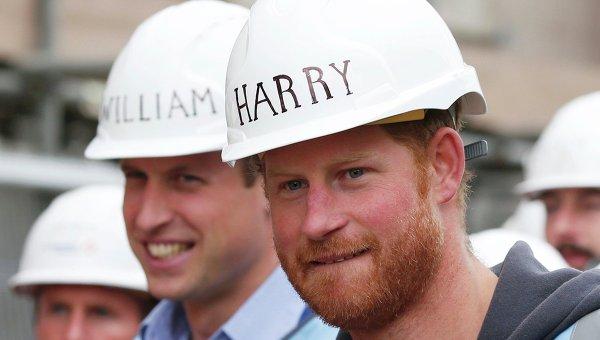 Британские принцы Уильям и Гарри. Архивное