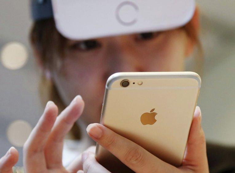 В очередях за айфонами