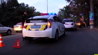 В Одессе задержан джип с пьяными полковником и генералом. Видео
