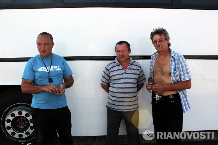 Водители ждут пассажиров из Крыма