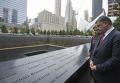 Президент Петр Порошенко вместе с супругой Мариной в Нью-Йорке почтил память жертв трагедии 11 сентября 2001 года