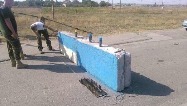 Блокпост на границе Крыма.