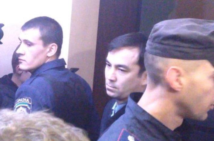 Гражданин России Евгений Ерофеев в зале Голосеевского райсуда Киева, 29 сентября 2015 г.