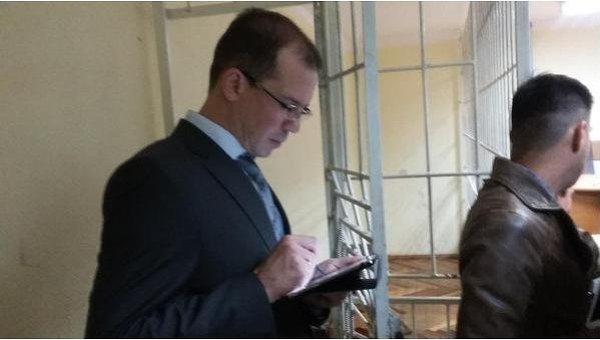 Консул России в Голосеевском суде Киева, где слушается дело россиян Ерофеева и Александрова
