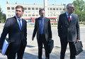 Адвокаты Надежды Савченко Илья Новиков, Николай Полозов и Марк Фейгин (слева направо)