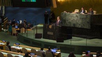 Выступление Порошенко на дебатах Генассамблеи ООН. Онлайн-трансляция