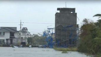 Последствия тайфуна на Тайване. Видео