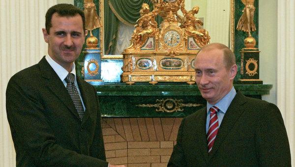 Башар Асад и Владимир Путин. Архивное фото