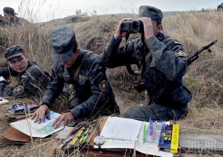Учебные стрельбы курсантов Нацгвардии
