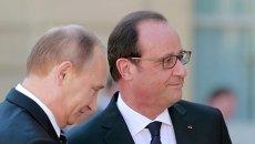 Встреча Путина и Олланда. Архивное фото