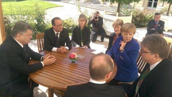 Переговоры нормандской четверки в Париже. Архивное фото