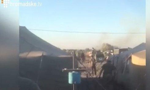 Взрыв танка на полигоне. Видео