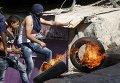 Столкновения между израильскими силами безопасности и палестинцами