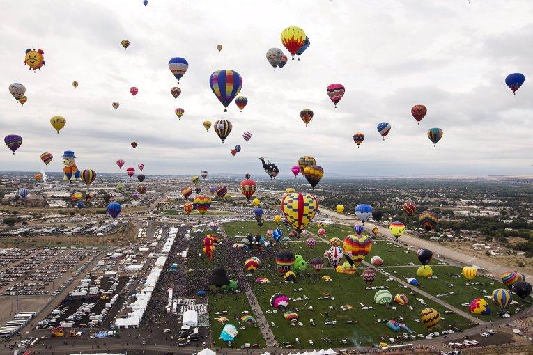 В Мексике проходит международный фестиваль воздушных шаров.