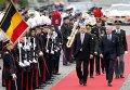 Официальный визит президента Турции Эрдогана в Бельгию, на фото - с королем страны Филиппом.