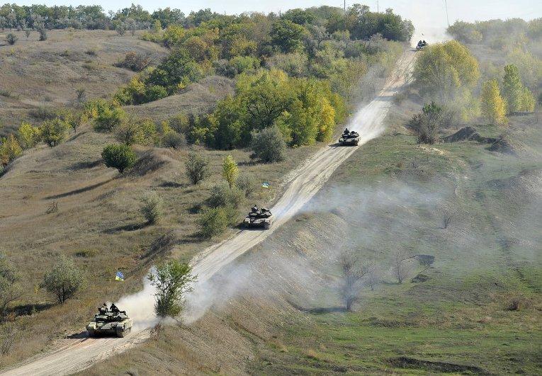 Отвод вооружений ВСУ калибром менее 100 мм в Луганской области (село Крымское)