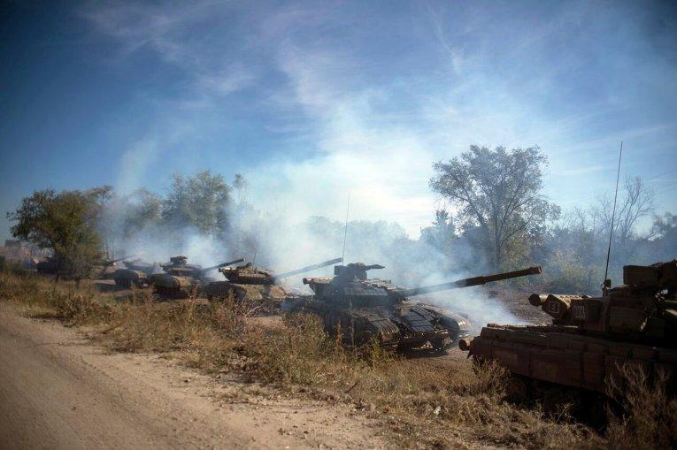 Отвод вооружений ЛНР калибром менее 100 мм возле села Крымское в Луганской области