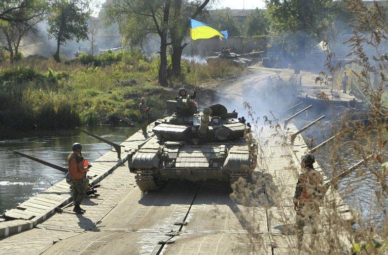 Отвод вооружений ВСУ калибром менее 100 мм в Луганской области (село Нижнее)
