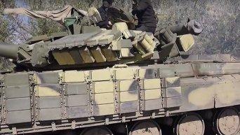 Отвод танков ВСУ от линии соприкосновения в Луганской области. Видео