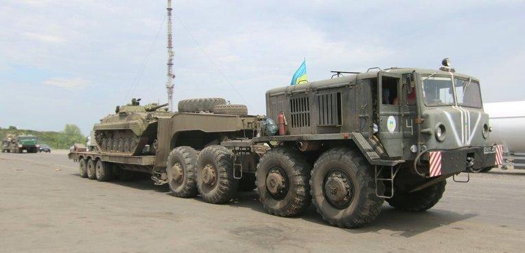 Отвод вооружений ВСУ калибром менее 100 мм в Луганской области (возле поселка Счастье)