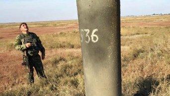 В Херсонской области повреждена опора ЛЭП на Крым