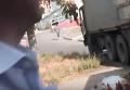 В Николаеве перевернулся грузовик с пивом. Видео