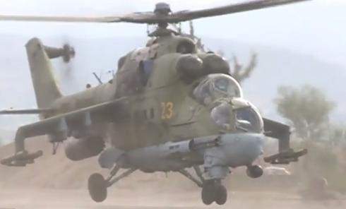 Российские вертолеты в Сирии. Видео