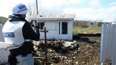 Наблюдатели ОБСЕ в Донбассе. Архивное фото