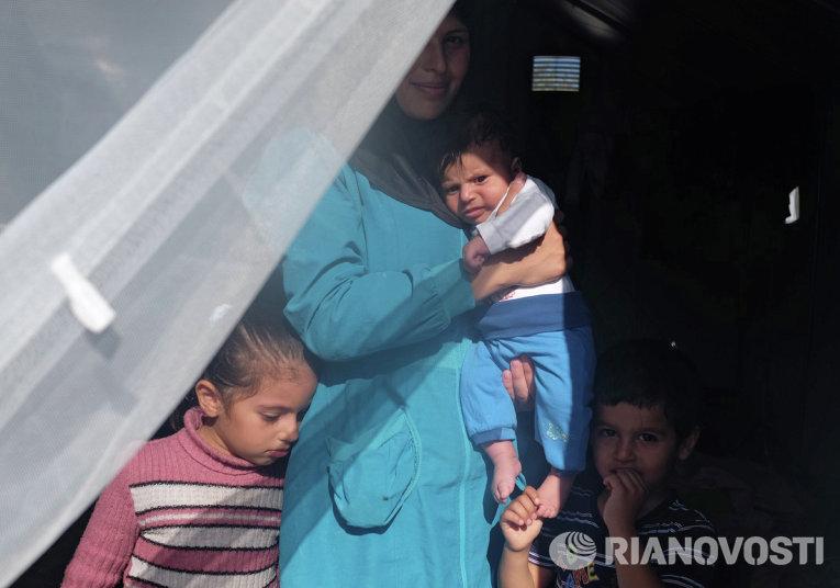 Ситуация с беженцами на греческом острове Лесбос