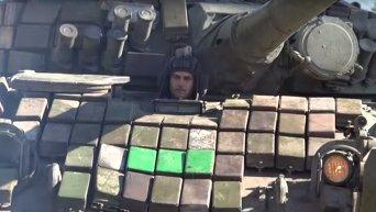 Отвод танков в ЛНР. Видео