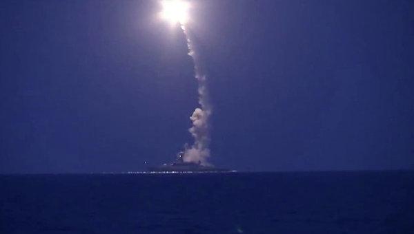 Пуск крылатых ракет РФ по Сирии
