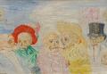 Картина бельгийского художника Джеймса Энсора Скелеты-травести
