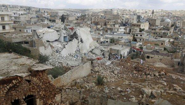 Результаты авиударов ВВС РФ возле Идлиба и Алеппо в Сирии