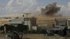 Последствия обстрелов в Сирии