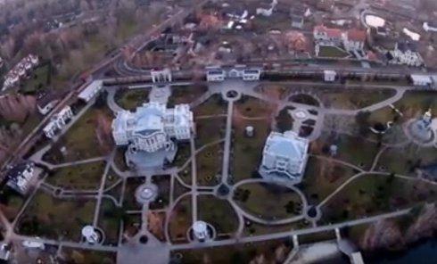 Вид на особняк Петра Порошенко под Киевом