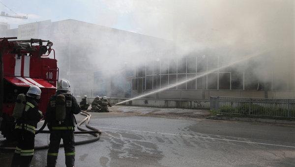 Российские пожарные. Архивное фото
