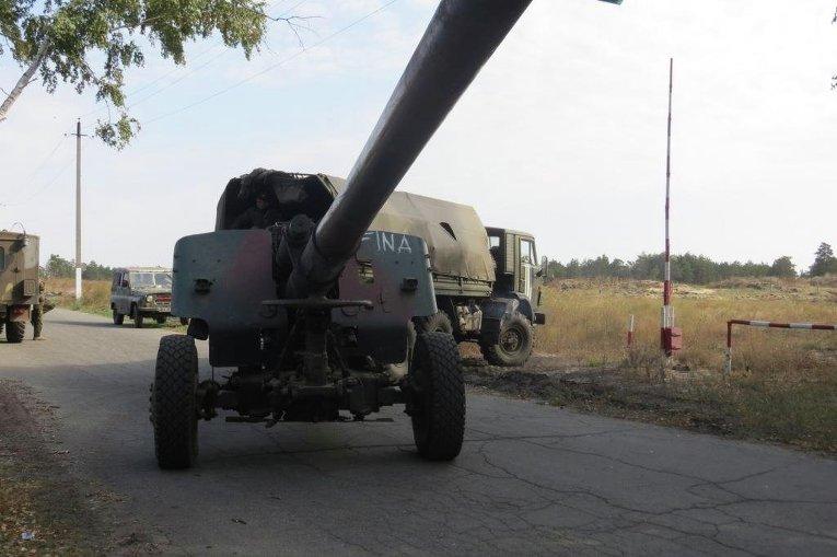 Учения 44 отдельной артиллерийской бригады