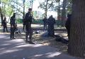 Задержание рэкетиров и изъятие оружия в Киеве: оперативное видео