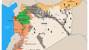 Авиаудары РФ по Исламскому государству в Сирии. Инфографика