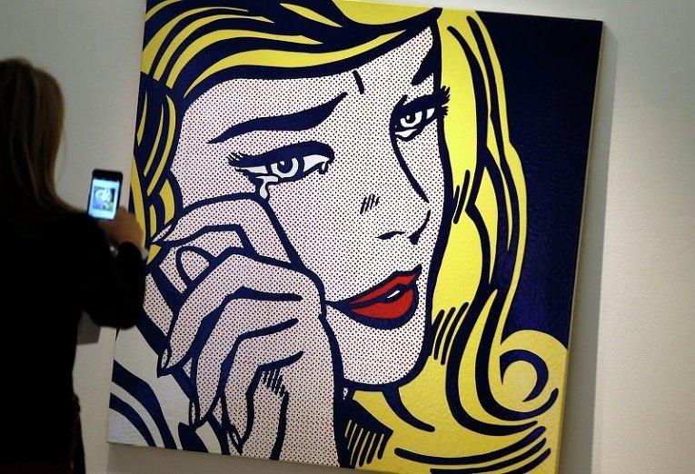 Картина Роя Лихтенштейна Плач девушки на аукционе Christie