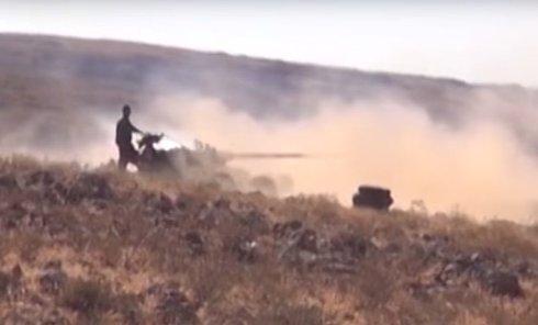 Ожесточенные бои под Дамаском. Видео