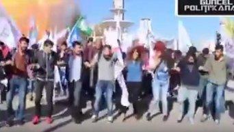 Взрыв и его последствия в Анкаре. Видео