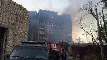 Пожар на ул. Взлетная в Донецке