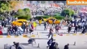 Момент взрыва в Анкаре
