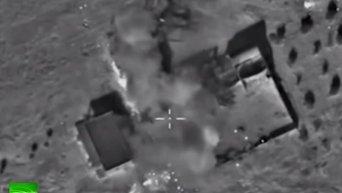 Точечные удары ВВС РФ по позициям ИГ в Сирии. Видео