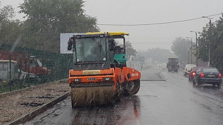 Укладка асфальта под снег и дождь в Ивано-Франковске