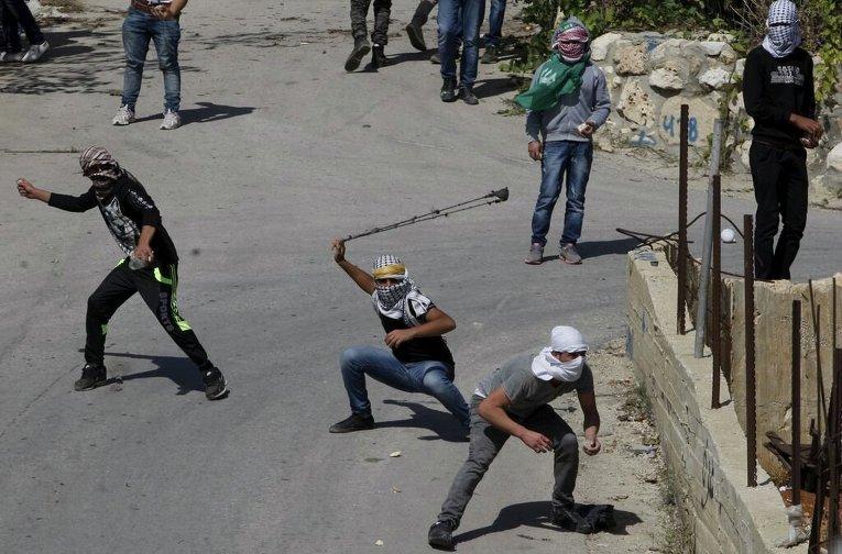 Израильские войска на границе с Палестиной